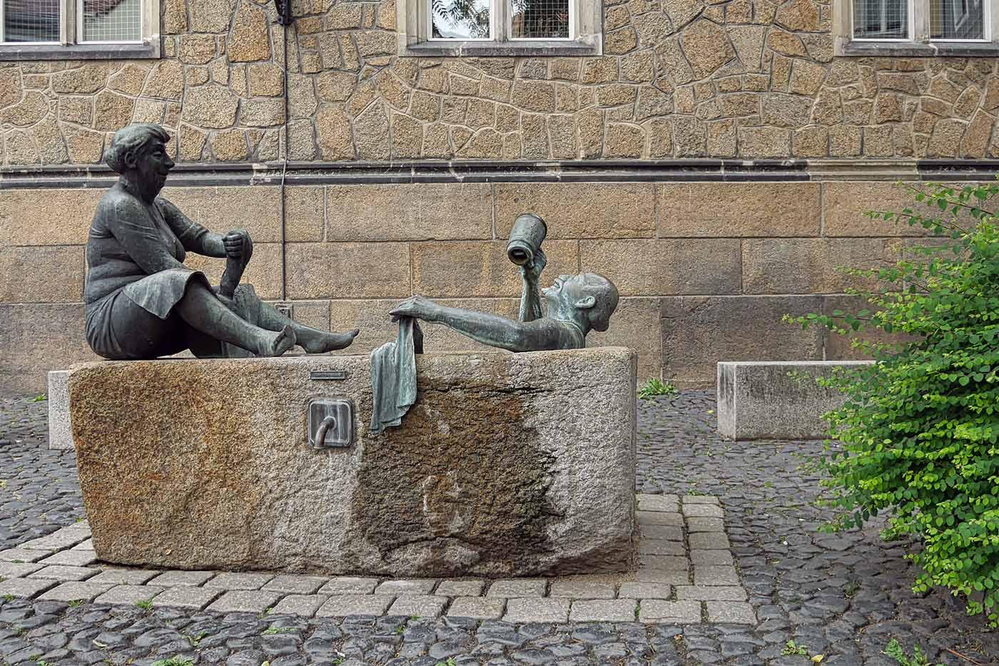 Zecherpaar Brunnen goerlitz